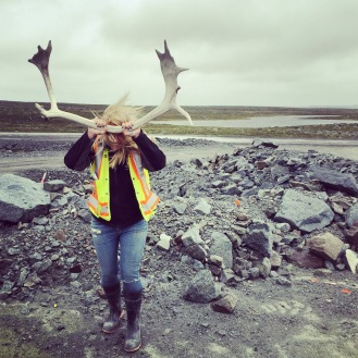 Impersonating a caribou in the NWT, Canada