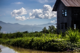 A home on one of the myriad of Inle Lake canals