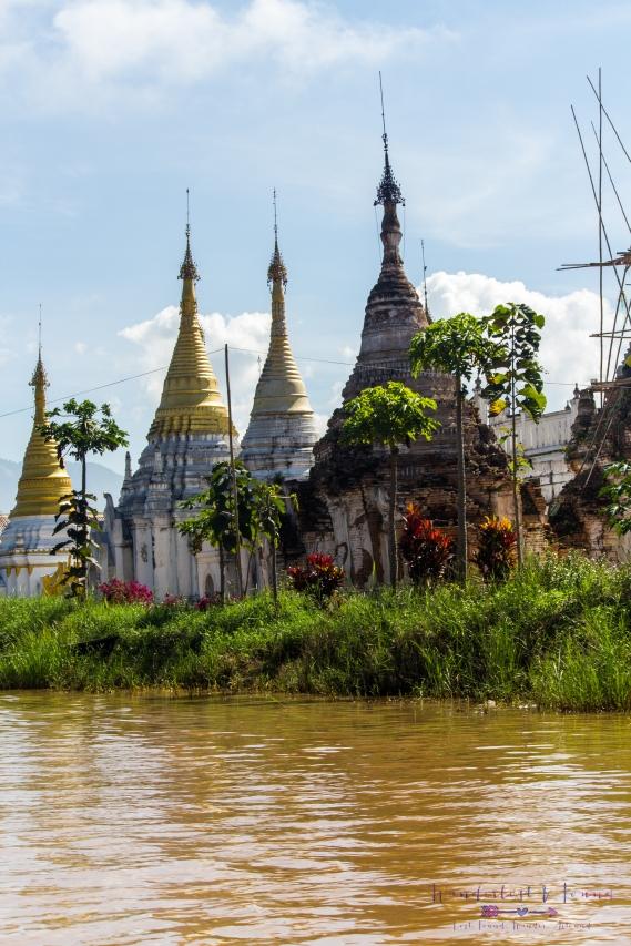 Pagodas along the lake
